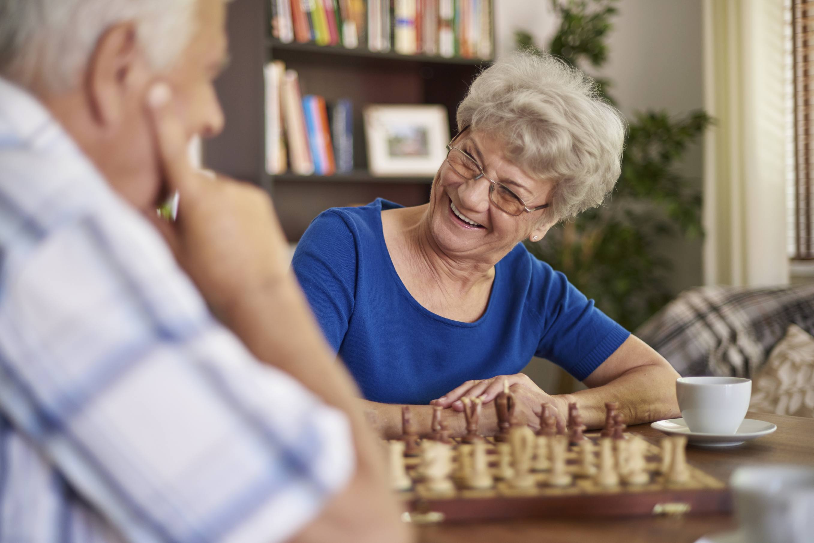 Playing chess in senior care